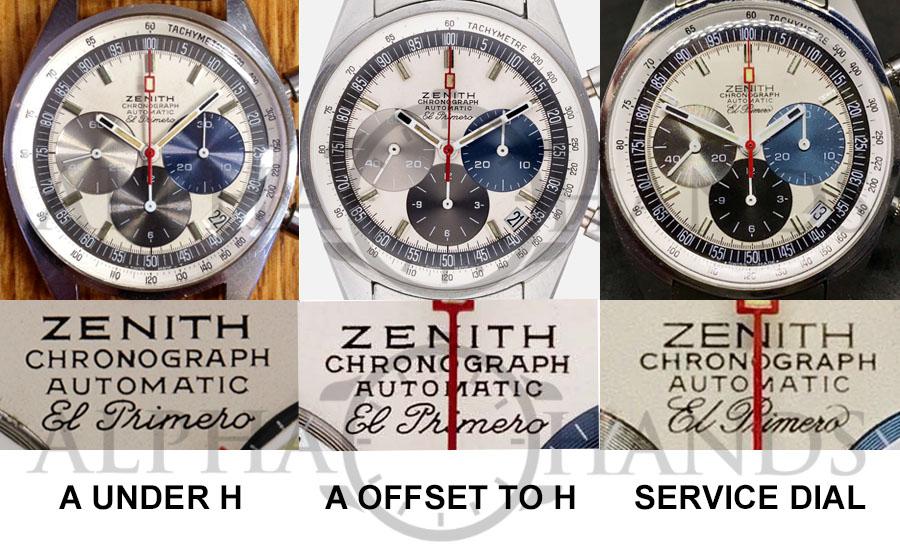 Zenith A386 Dials