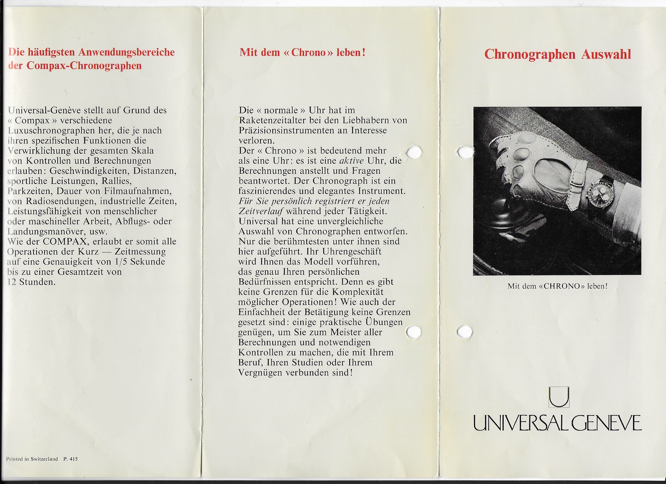UG Clapon German Brochure Cover
